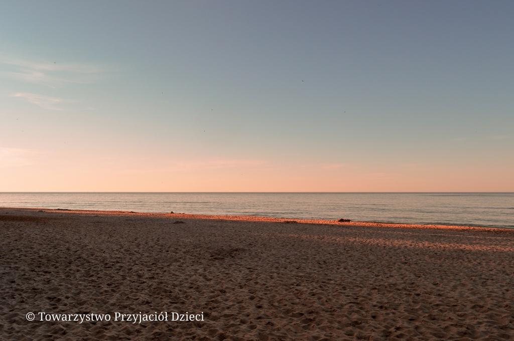 Jastrzębia Góra plaża